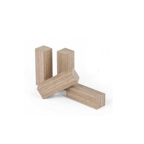 Universeel hoekje/eindstukje 19x19x60mm in grondeerfolie wit (4stuks)