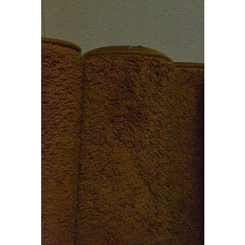 Karpet hoogpolig zware kwaliteit - roest bruin (6.)