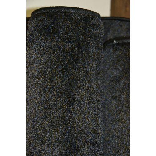 Karpet hoogpolig type Bonaparte Chinchilla - zwart met klein bruin spikkeltje gemêleerd (29.)