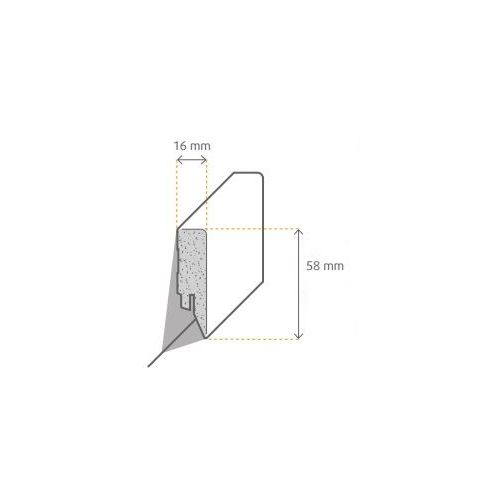 MDF Plint Recht 16x120x2500 mm afgelakt in RAL 9010 maar ook nog overschilderbaar