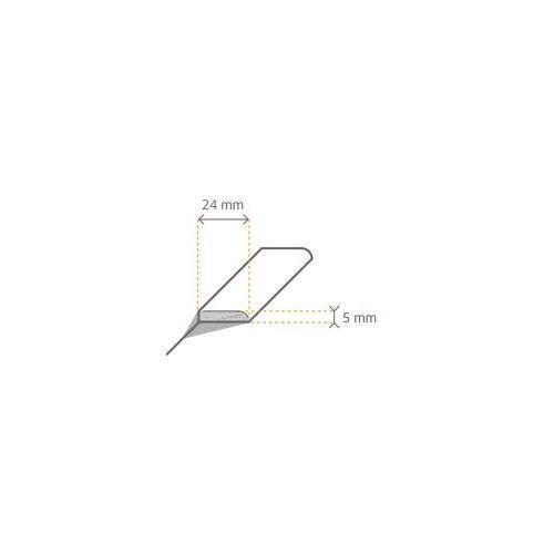 Afdeklijst Europees Eiken Lamelparket of Duo Plank 5x24x2400 - Onbehandeld