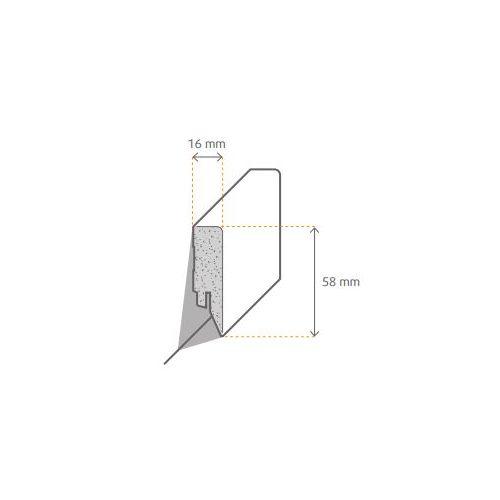 MEISTER Style Plint Recht 16x58x2500 mm in diverse decors